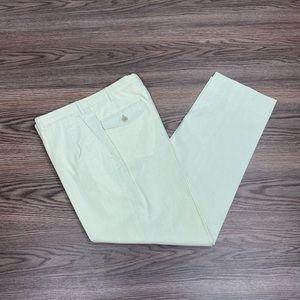 Brioni Green & White Pincord Cotton Pants 32